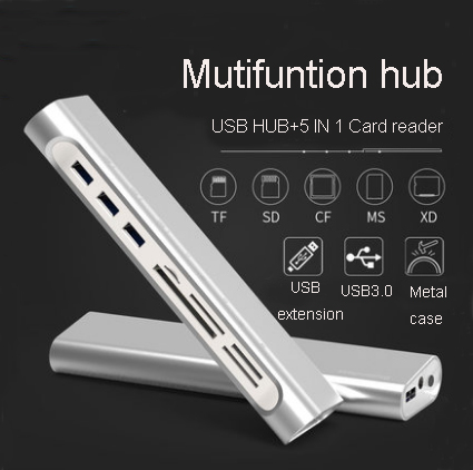 все цены на USB Combo Hub 3.0 3 Ports + Card Reader Portable Hub USB Splitter Adapter Multi All In One For SD/TF/CF/MS/XD For Computer