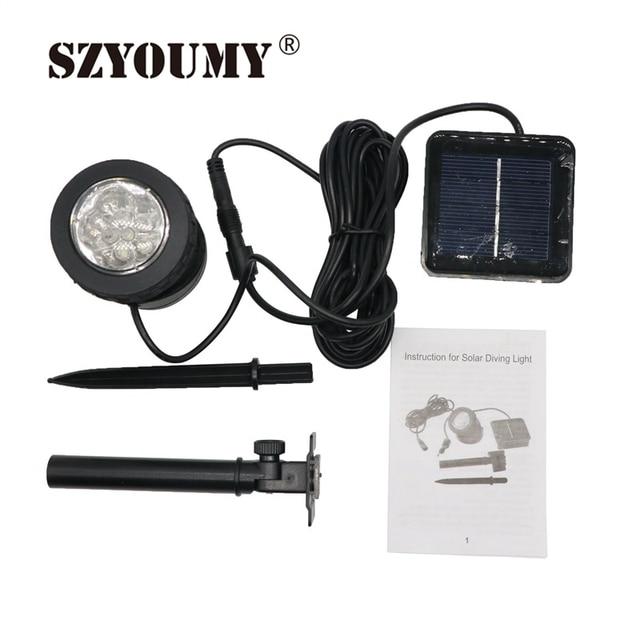 15 13 Szyoumy 6 Led Solaire Jardin Spot Light Exterieure Pelouse Paysage Projecteur Etanche Lampe Solaire Ip67 Chaude Recherche Dans Led
