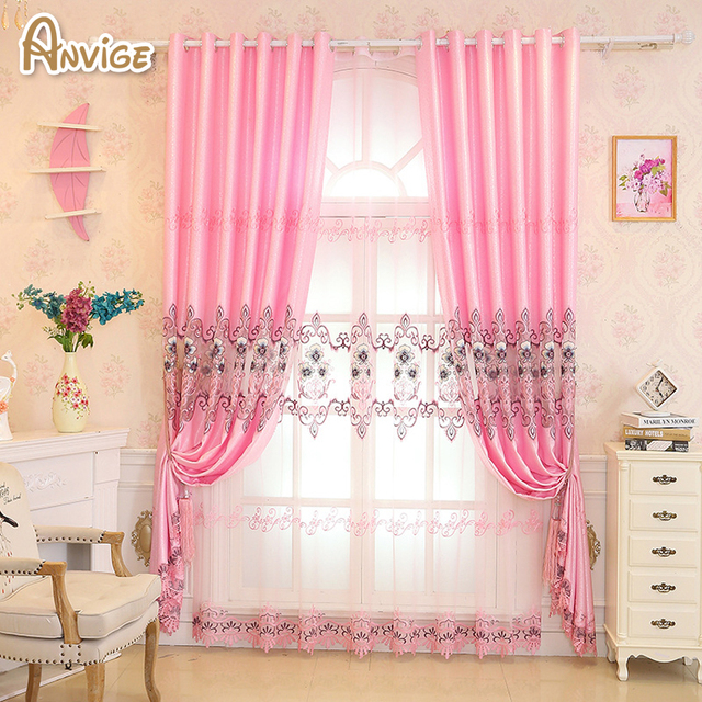 Anvige Luxury European Curtains for Bedroom Window Curtains for ...