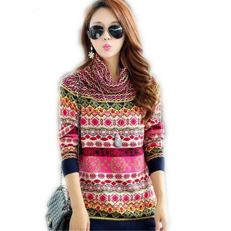 2018 Nova moda odebelitev osnovni pulover ženski pulover turtleneck kašmir Ženski pulover Plus Size pulover