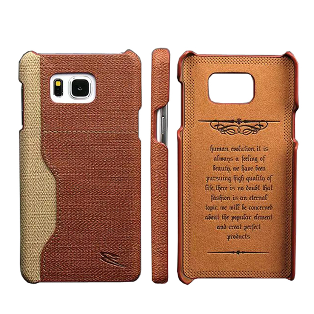 the best attitude f5cbc 170a2 US $3.69 5% OFF|Note5 Back Cover Genuine Leather Case for Samsung Galaxy  Note 5 Brand Original with Card Holder Exquisite Embossing Luxury-in ...