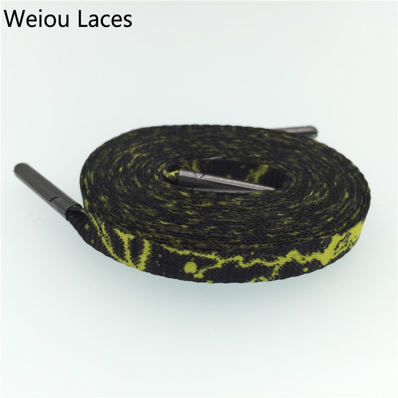 Weiou Fashion Carbon Weave Heat Transfer Flat Personalized Replacement Shoelace Galaxy Plum Blossom Polyester Shoe Laces Strings