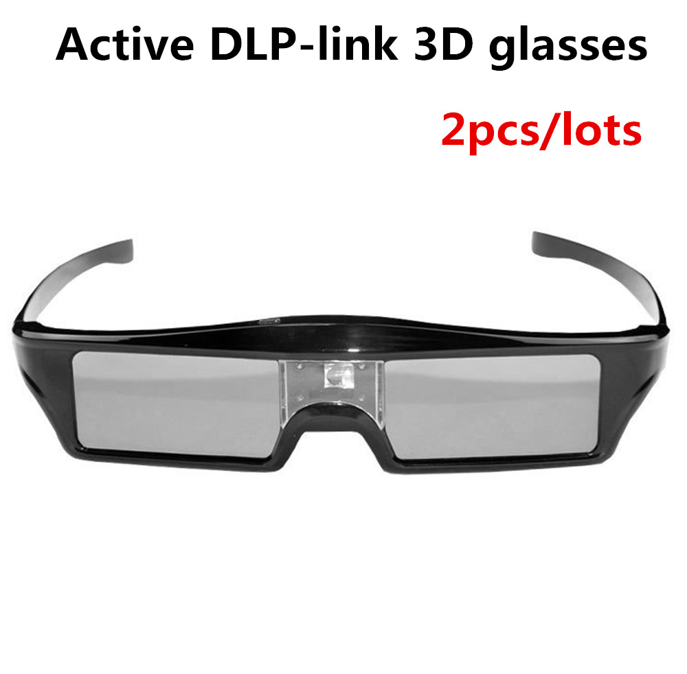 US $24 4 20% OFF|2pcs/lots DLP 3D Active Shutter Glasses for Optoma Sharp  LG Acer BenQ DLP LINK DLP Link Projectors gafas 3d Free Shipping-in 3D