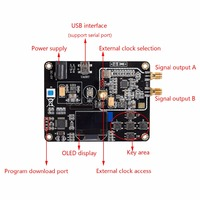 ADF4351 OLED STM32 MCU Phase Locked Loop Module 35M 4 4G RF Signal Source Sweep