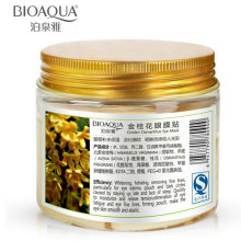 80 Pcs/ Bottle BIOAQUA Gold Osmanthus Eye Mask Women Collagen Gel Whey Protein Face