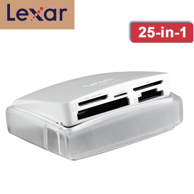 Lexar Multi Card 25 in 1 หน่วยความจำเครื่องอ่านบัตรสมาร์ทการ์ด USB 3.0 500 เมกะไบต์/วินาทีขนาดกะทัดรัด TF SD CF card reader สำหรับแล็ปท็อปอุปกรณ์เสริมกล้อง