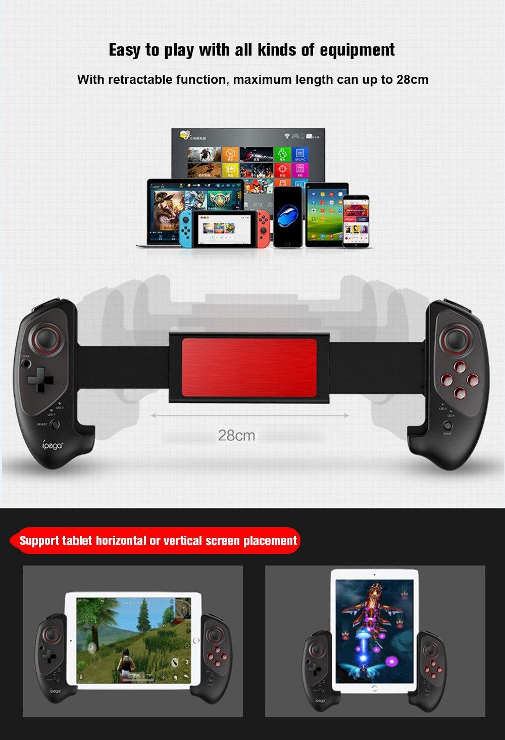 IPEGA PG-9083 PG 9083 Joystick Pad pour Android/PC Bluetooth Gamepad sans fil télescopique contrôleur de jeu extensible pratique - 2