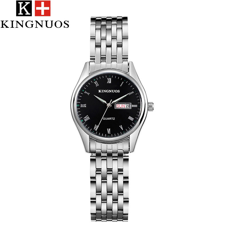 KINGNUOS Quartz Watch Women Watches Ladies Brand Luxury Stainless Steel WristWatches Female Clock Montre Femme Relogio Feminino high quality flytower f3 flight controller 25 200 400mw switchable fpv transmitter osd dshot 30a 4 in 1 esc pdb