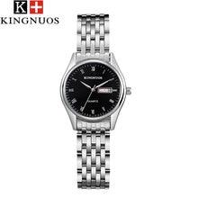 KINGNUOS Cuarzo Mujeres Del Reloj de Señoras de Los Relojes de Marca de Lujo de Acero Inoxidable Relojes de Pulsera Relogio Feminino Reloj Mujer Montre Femme