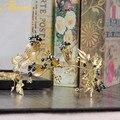 Tiara de Flor de Ouro Barroco do vintage Deixa Borboleta Hairband Headband para Mulheres Festa de Natal Cabelo Coroas Tiaras Jóias SG224