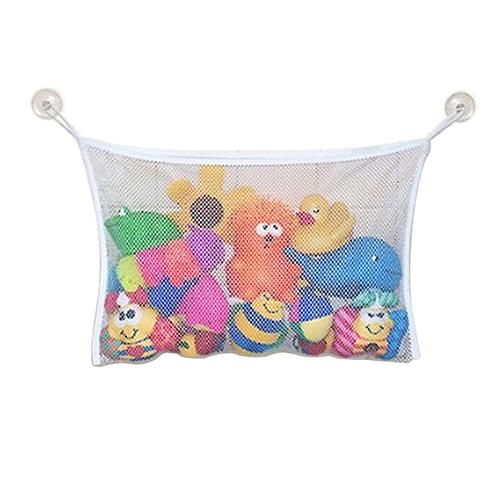 Hot Baby Toy Mesh Storage Bag Bath Bathtub Doll Organizer Suction Bathroom Stuff Net 11742 6QAA