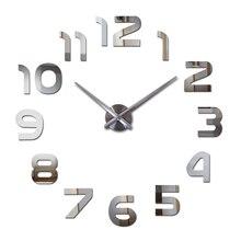 2017 new DIY font b wall b font font b clocks b font acrylic mirror font