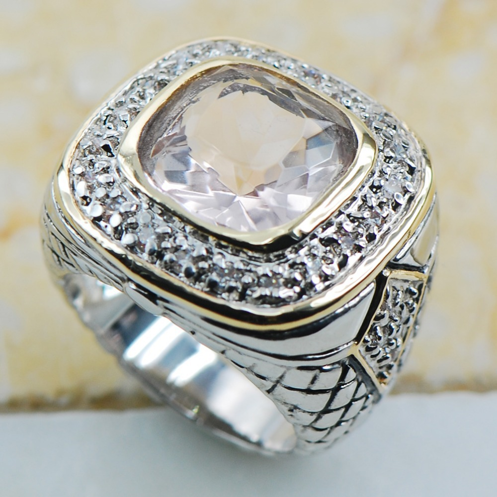 White Crystal Zircon 925 Sterling Silver Top Quality Fancy Jewelry Wedding Ring Size 6 7 8 9 10 F1162
