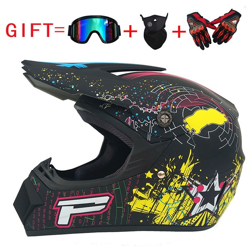 Motorcycle Helmet Visor Film Off-road Helmet Male Full Face Helmet Casco Motocross Helmet Gt Air купить в Москве 2019