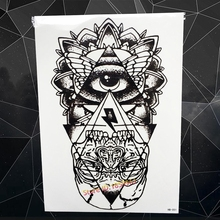 Fashion Big Size Fake Black Tattoo God Eye Designs Body Art Tatoo Arm Sleeve Men 21x15CM Triangle Tattoo Stickers Totem Women