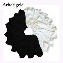 Arherigele 7Pairs Női rövidnadrág Nyári Női Low Cut Női zoknik női Női fehér Fekete zoknik Chaussettes Femme