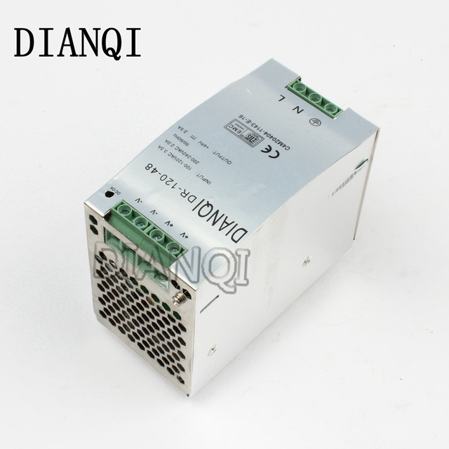 DIANQI Din rail power supply 120w 48V power suply 48v 120w power supply ac dc converter dr-120-48