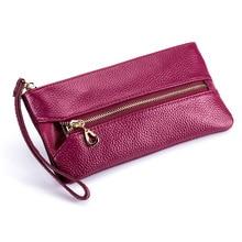 New Multifunctional Finishing Cow Genuine Leather Key Case Ladies Mobile Phone Bag Housekeeper Key Wallets Key Buckle Custodian