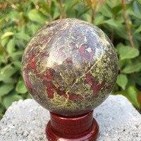 Natuurlijke dragon blood stone jasper crystal bol rieki healing voor home decoratie