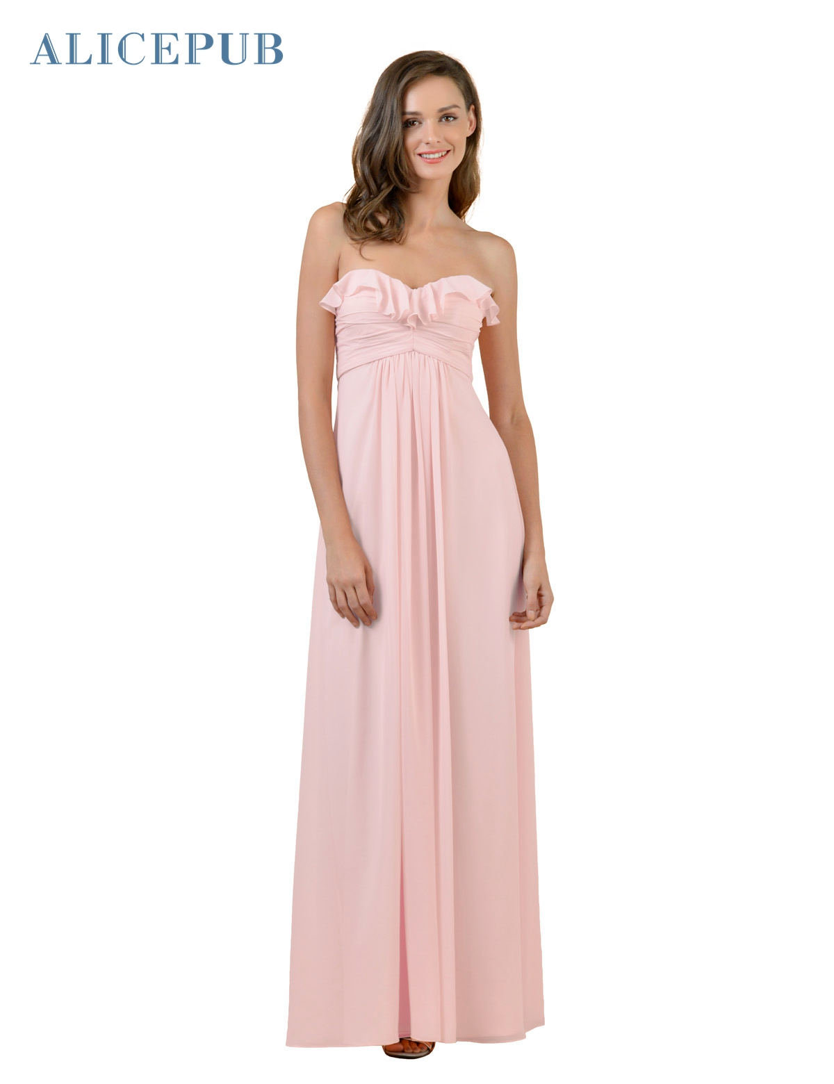 High quality colors bridesmaid dresses buy cheap colors bridesmaid alicepub sweetheart bridesmaid dresses long chiffon ruffles prom party ball gowns strapless multi colors free shipping ombrellifo Images
