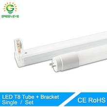 GreenEye 1set/single LED Tube T8 / Folding Fixtures Bracket / 10w 60cm 2Feet 220v Fluorescent Light Tube Lamp 600mm T8 Lighting
