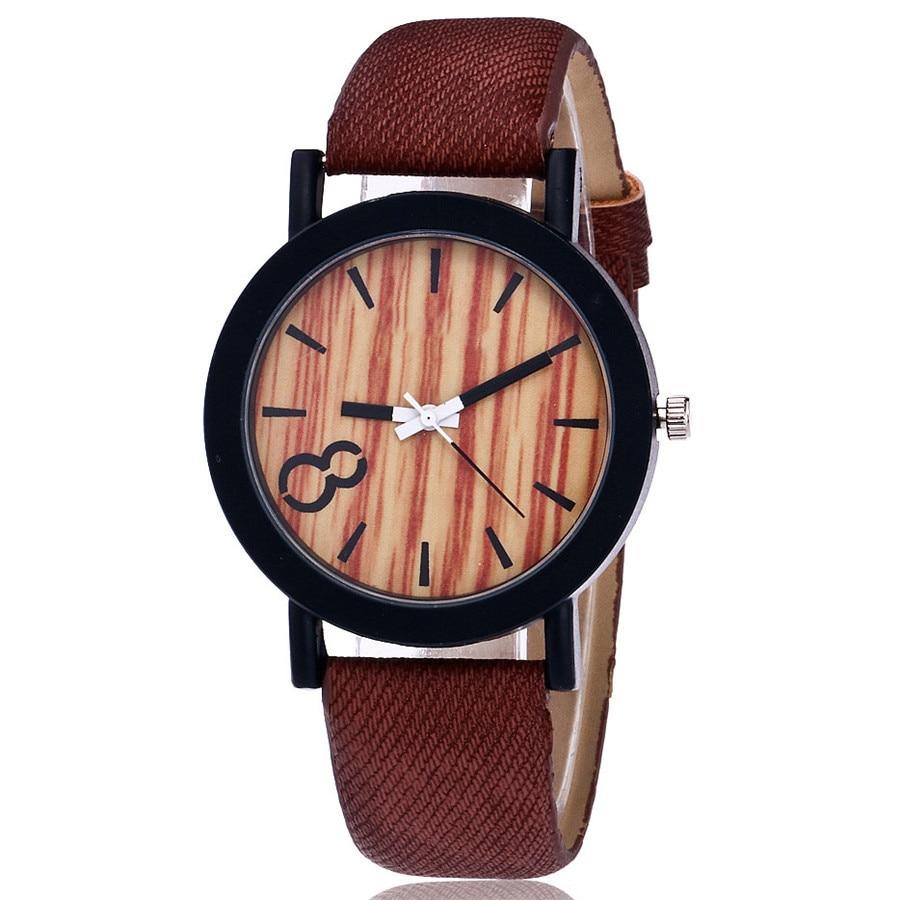 Susenstone Quartz Wristwatch Wooden Female Casual Luxury Feminino Relogio Color Men