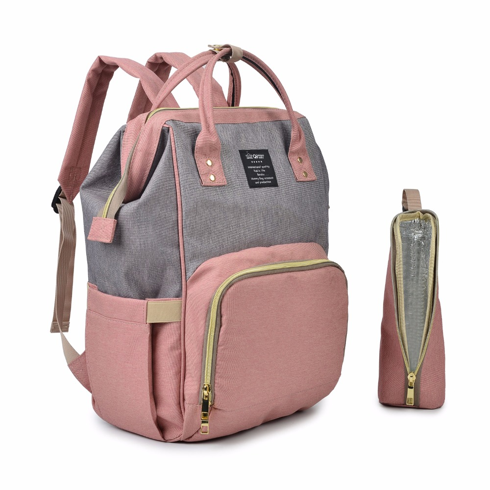 цена Qimiaobaby Fashion Mummy Maternity Diaper Bag Large Nursing Bag Travel Backpack Designer Stroller Baby Bag Baby Care Nappy Backp
