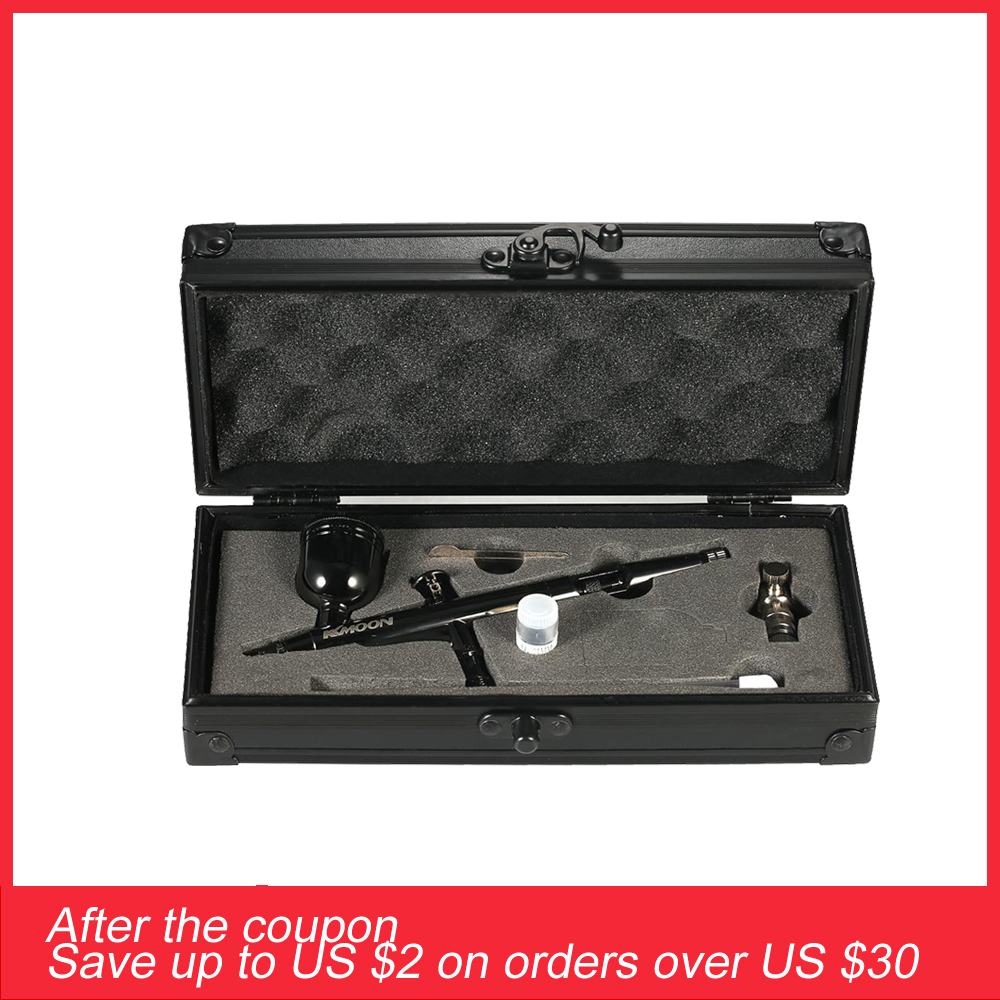 KKmoon Gravity Feed Dual Action Airbrush Kit Set 0 3mm 8cc Trigger Spray Gun for Art