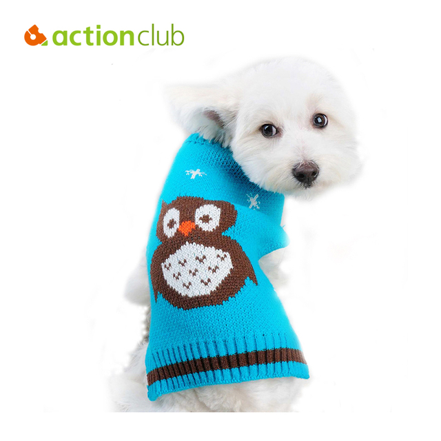 Actionclub Moda Suéter Perro Night Owl Patrón Mascota Roupa Suéter ...