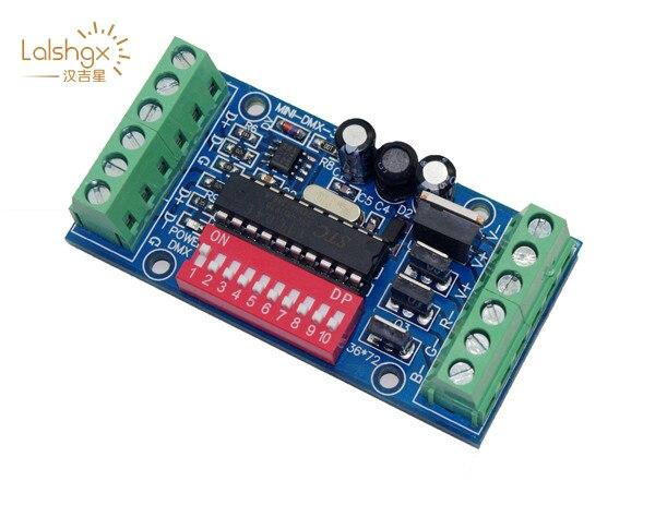 10 pçs/lote DC5V 24V mini 3 canais 3CH Fácil DMX512 decodificador DMX 512 Controlador LED RGB Dimmer para LED strip fita CONDUZIU a lâmpada do bulbo - 2
