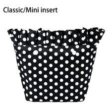 New Composite Twill Cloth Classic Mini Waterproof Frill Pleat Inner Lining Insert Zipper Pocket for Obag O Bag