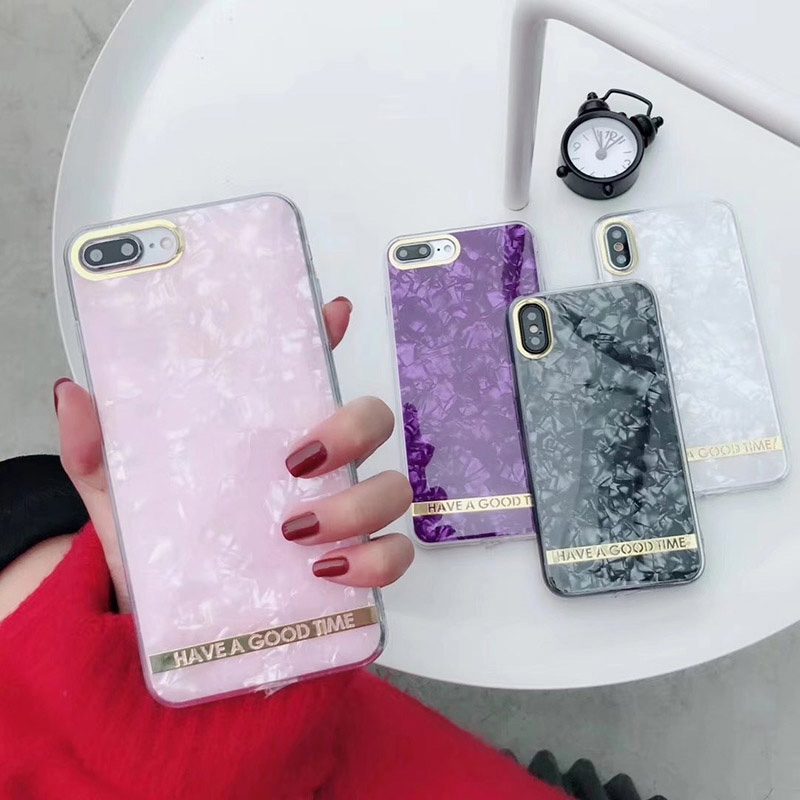 Luxury Glitter gem Phone Case For iPhone X Soft tpu Edge Agate Pattern Cases for Apple iPhone 6 6S 7 8 Plus Cover Silicone 7Plus