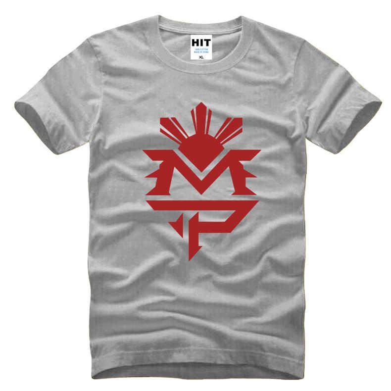 Fitness Manny Pacquiao Logo Gedrukt mannen T-shirt T-shirt Voor mannen 2016 Nieuwe O Hals Katoen Casual Top Tee Camisetas Hombre