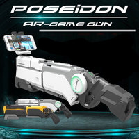 AR Gun Pneumatic Gun Kids Toys Gun Airsoft Weapons Bluetooth Cell Phone Stand Holder Multiplayer Battle Remote Sensing Game