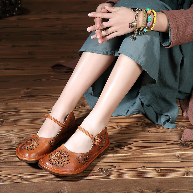 Genuine leather women flats vintage women shoes casual flat heel round head shallow handmade shoes ladies Actmdall 131-23 xiniu flats mother shoes women retro flat heel shallow mouth solid color casual shoes flat shoes genuine leather shoes fashion