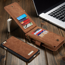 For iphone 6 6 Plus Luxury Retro Multi Functional 2 in 1 Leather Wallet Case For Samsung Galaxy S7/S7 Edge Note5 Magnetic Cover