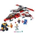 Super heroes avengers aviones avenjet misión espacial de figuras para niños bloques de construcción de juguete compatible con lego