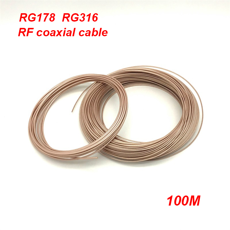 High Frequency RG 178 RG316 RF Coaxial cable Adapter Connector Teflon Coax Cable 50 ohm