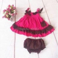 Free Shipping Chevron Clothing Set For Infant Newborn Baby Girl Ruffle Bloomer Set Cute Toddler Girl