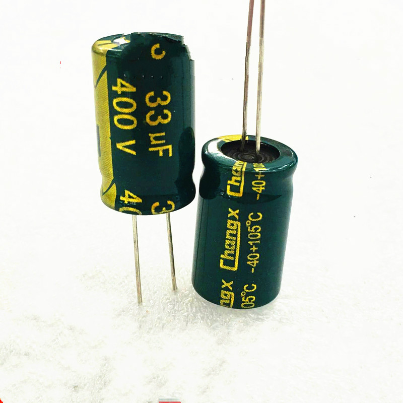 High quality free shipping 5PCS 400v 33uf high frequency low resistance   electrolytic capacitor 33 uf 400 v 13 x20 10pcs high quality 25v68uf high frequency and low resistance long life electrolytic capacitor 68uf 25v 5x11