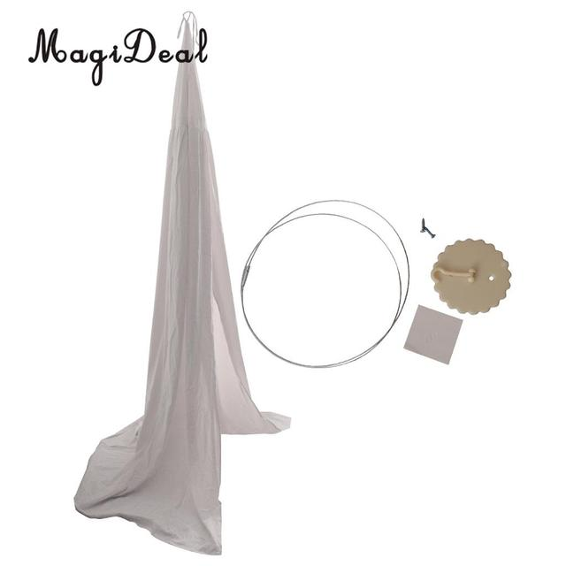 White Pink bed canopy hanging 5c64d7e7450f8