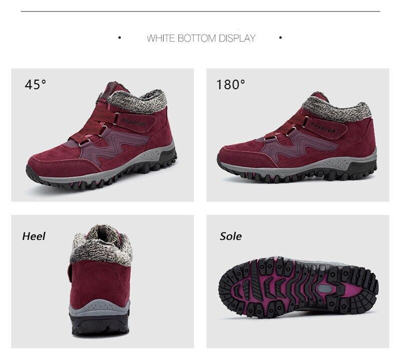 HTB1OetnaITxK1Rjy0Fgq6yovpXaz - Brand Men Snow Boots Plus Size 45 New Men Boots with Fur Unisex Winter Snow Botas Warm Plush Shoes High Top Boots Autumn