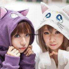 Сейлор Мун Артемида Luna Cat с капюшоном пальто с капюшоном наряд аниме маскарадные костюмы
