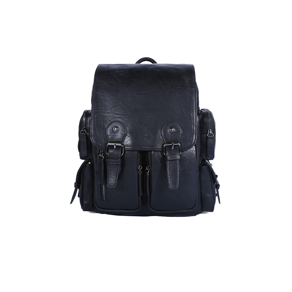 Men Bag PU Leather Men's Backpack Male Natural Leather Laptop Computer Bags Waterproof Travel Bag School Bags Free Shipping ozuko multi functional men backpack waterproof usb charge computer backpacks 15inch laptop bag creative student school bags 2018
