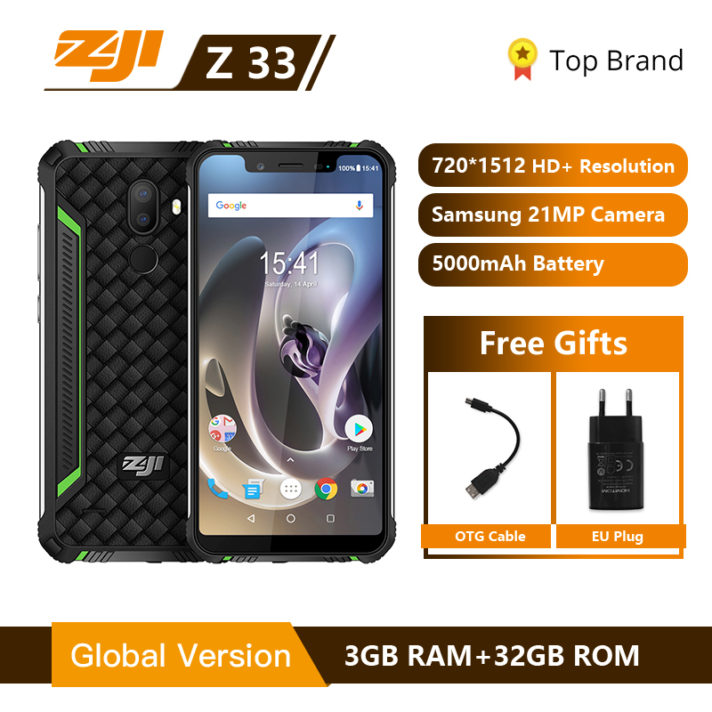 IP68 Waterproof Phone HOMTOM ZJI ZOJI Z33 4600mAh 3GB 32GB 5.85