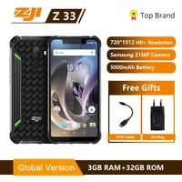 IP68 Waterproof Phone HOMTOM ZJI ZOJI Z33 4600mAh 3GB 32GB 5.85 Smartphone Android 8.1 MTK6739 Face ID 4G FDD LTE MobilePhone