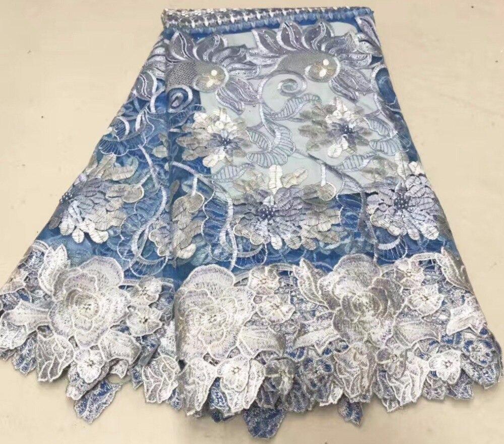 2018 Newarrival y tela de encaje bordado de alta calidad tela de encaje de red francesa africana para vestidos A088 6-in encaje from Hogar y Mascotas    1