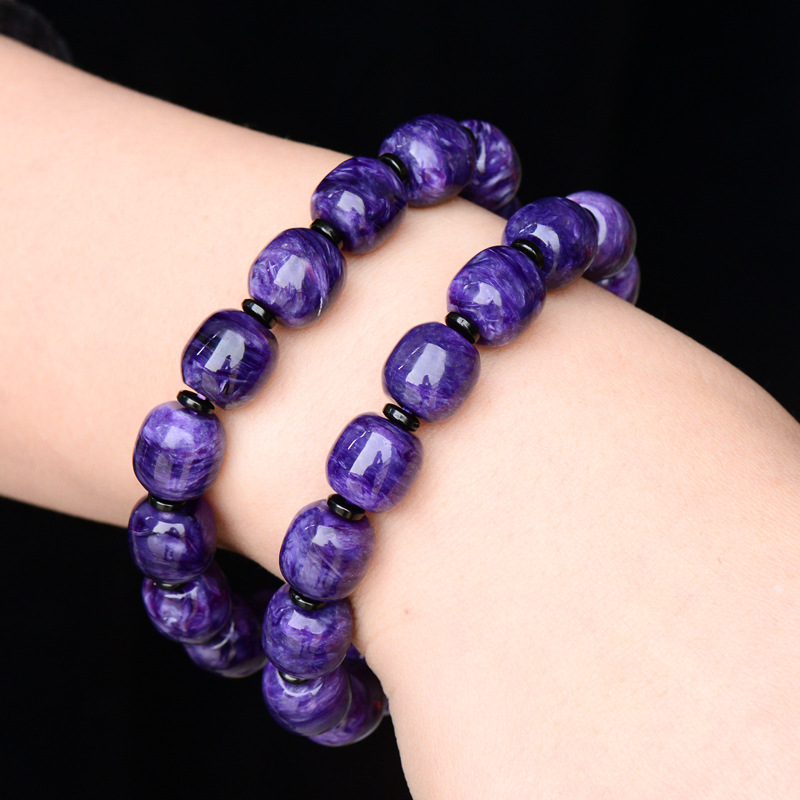 5A/6A Certificate 11mm 100% Genuine Natural Charoite Bracelet Stone For Women Femme Purple Round Crystal Beads Bracelets5A/6A Certificate 11mm 100% Genuine Natural Charoite Bracelet Stone For Women Femme Purple Round Crystal Beads Bracelets