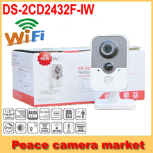 Hikvision Wifi Camera 3mp DS-2CD2432F-IW, IP Camera 1080p IR Cube w/3D DNR,Up to 10m IR,PIR, Network CCTVIP camera