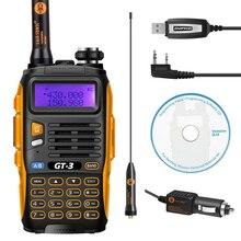Baofeng GT-3 Mark II VHF/UHF 136-174/400-520 MHz Double Bande FM Ham Two Way Radio talkie Walkie + USB Câble de Programmation et CD